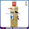 TSD-S060 Custom Spinning tower wooden slatwall display shelf/slatwall racks for stores/displays and shop fixtures
