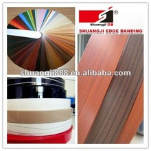 pvc plastic furniture edge banding, high quality pvc edge banding for furniture parts