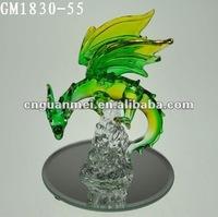 decorative glassware of western dragon