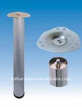 Adjustable furniture table Feet chrome Diameter 60mm Height 710/820/870/1100mm