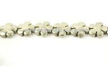 SL29996 Pyrite Five Petal Flower Beads