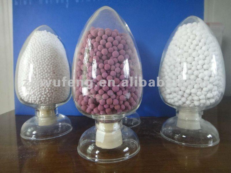 la purificación del aire bola de alúmina activada con permanganato de sodio