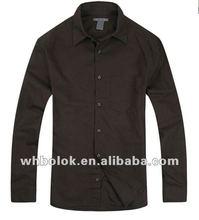 Mens cotton white/black long sleeve shirt