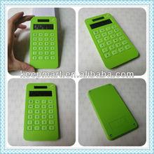 Corn plastic10 digit LCD display solar energy battery power pocket calculator