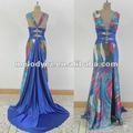 En el tema de valores! La cintura sexy azul occidental de moda vestido de fiesta