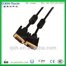 Ferrite cores Black DVI-D Dual Link male to male DVI-D cable