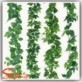 Artificial de plástico ivy/mão sentir deixa