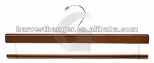 Nice style brown finish walnut wooden pants&skirt hanger