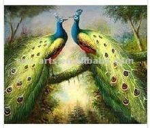 Wonderful wall art decoration peacock oil painting