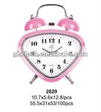 2015 popular Metal Bell Double Table Clock(2829)