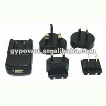 4.2V 300mA battery emergency phone charger Adapter with Interchangeable CE/UK/SAA/UL Plug, OEM Orders are Welcome