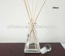 Garrafa de vidro por atacado Reed difusor com varas de vime
