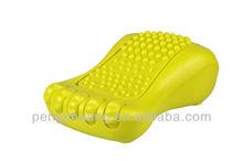 Yellow Mini Foot Massager,battery operated