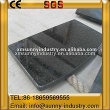 Edges polished stone black tile