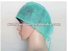 Disposable Surgical Surgeon Doctor Cap Hat Tie Back Non-Woven Disposable Surgeon Cap PP Nonwoven Surgical Cap
