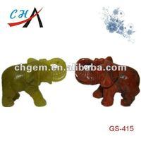jade and rainbow stone carved animal