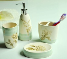 bath and company 4pcs decal ceramic bathroom accessories and sets