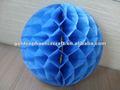 Artesanato papel favo de mel azul bola