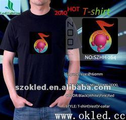 3-6 Business Days Delivery EL T Shirt Sound Actived led panel t shirt