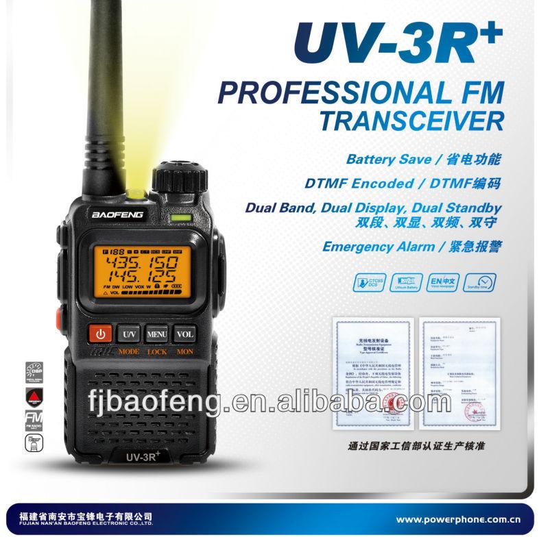 Baofeng UV- 3r+ Mikro dual band VHF UHF 2 yönlü telsiz