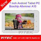 Hot sale 7 inch wifi tablet android