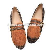 ladies rubber soles flat shoes good qualities pu lady shoes ho9237