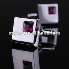 popular selling stainless steel horseshoe cufflinks+zircons