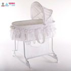 Enterprises playtime 2-in-1 baby rocking bassinet Popular Design Rocking Baby Bassinet With Canopy and Brake Wheels