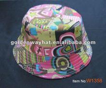 2012 Fashion cheap golf hat with bucket hat pattern