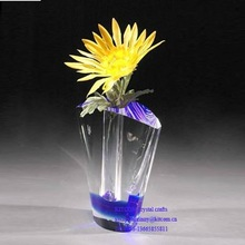 purple crystal flower vase