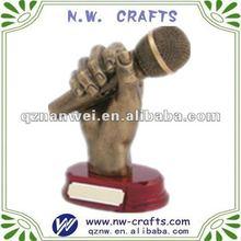 Miniature microphone resin statue