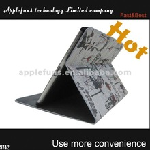 2014 new selling wallet map for new ipad 4 cover leather case