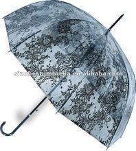 """23"""" x 8 transparent slim elgant lady lace umbrella"""