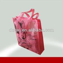 Recycle Mickey Printing Pink Shopping Bag
