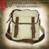 vintage style large blank canvas shoulder bag for men
