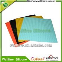 2012 new design blocks silicone anti-slip rubber shower mat