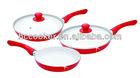 white ceramic coating aluminium ceramic pan