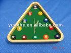 "14""Pool Rack Quartz Clock with Solid Wood Frame"
