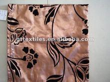 printed home sofa taffeta flocking cushion covers