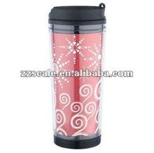 Office Mug,16OZ Female Plastic office cup Advertising cup ad vacuum flask 480ml auto mug