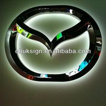 MAZDA brand watterproof stainless steel letters back light car logo signs