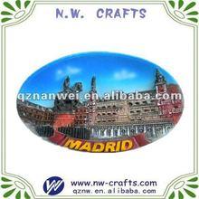 Round magnet madrid city spain souvenir