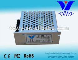 S-25W-12V DC singel output metal switch mode power supply