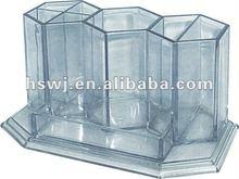 Plastic Desk Organizer Transparent tubular penrack