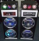 2.0 active professional usb sd fm subwoofer led dj sound speaker box