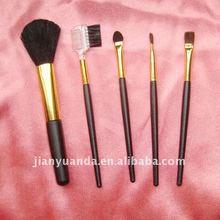 5pcs plastic handle makeup brush sets for promotion