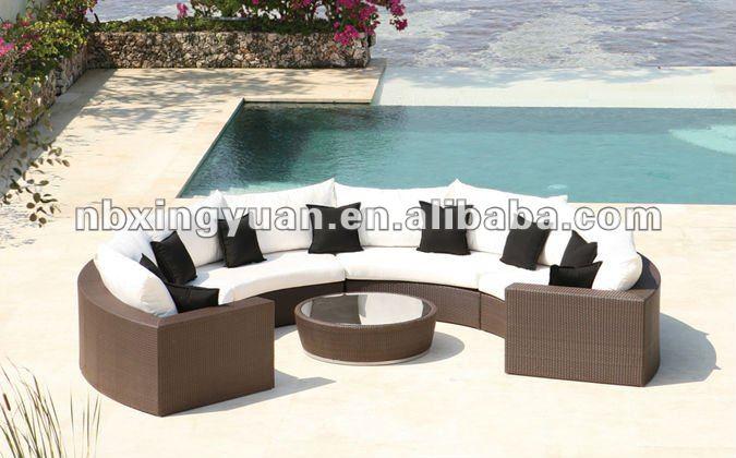 mobili da giardino in rattan poli