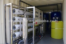 mobile water treatment plant, mini water factory, complete container setup in factory