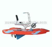 fishing plastic boat/water pedal bike on sale
