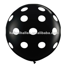 18inch black and white Polka Dots birthday party balloon decorations
